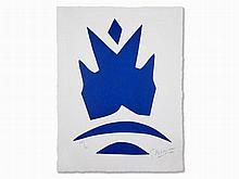 Georges Braque, Woodcut, Poissons volants bleus, 1962