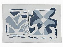 Georges Braque, Color Woodcut, Fenêtre II: Oiseau gris, 1962