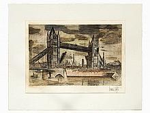 Bernard Buffet (1928-1999), Tower Bridge London, about 1960