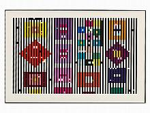 Yaacov Agam (b. 1928), Color Serigraph, Composition, c. 1980