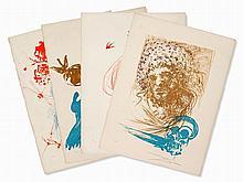 Salvador Dalí, 4 Color Lithographs, Edades de la Vida,´73