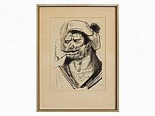 Otto Dix (1891-1969), Lithograph, 'Mediterranean Sailor', 1923