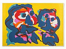 Karel Appel (1921-2006), Color Lithograph, Desert People, 1976