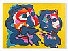 Karel Appel (1921-2006), Color Lithograph, Desert People, 1976