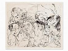 Max Beckmann (1884-1950), Etching, 'Gesellschaft', 1915