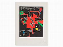 Joan Miró, Son Abrines I, Etching in Colors, 1987