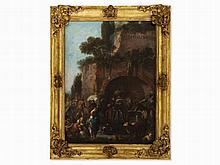 Paolo Monaldi (1710-1779), Washerwomen at the City Wall, 18th C
