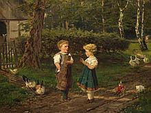 Fritz Beinke (1842-1907), Boy and Girl on a Village Road, 1903
