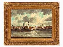 Hermanus II Koekkoek (1836-1909), Townscape, around 1900
