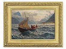 Hans Dahl (1849-1937), 'Fresh Breeze', Norway, circa 1900