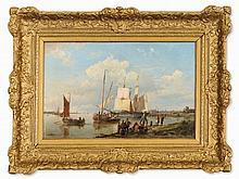 Hermanus Koekkoek I (1815-1882), At the Estuary, circa 1850