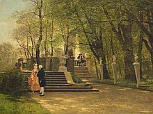 Paul Franz Flickel (1852-1903), In the Castle Garden, c. 1880