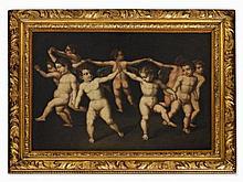 School of Emilia, Putti Dancing, Italy, 17th Century