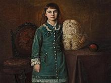English School, Edith Leabell at the Age of Seven, 1874/75