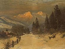 Anders Andersen-Lundby (1840-1923), Winter Landscape, 19th C.