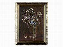 Mieczyslaw Reyzner (1861-1941), Wildflowers, Oil Painting, 1917