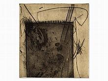 Karl Fred Dahmen , Aquatint and Dry Point, 'Raum', 1960s