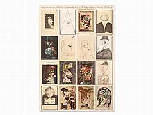 Horst Janssen, Offset, 'vier hoch zwei zu sich Karten', 1972