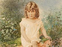 Stepan F. Alexandrovsky (1842-1906), Girl, Watercolor, 1885