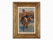 Franz Roubaud (1856-1928), Caucasian Horseman, Oil, c.1880/90s