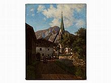 Ferdinand Lechner (1855-1911), Mayrhofen, Oil Painting, 1880