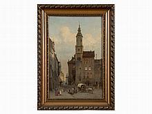 A. Kühn, Old Town of Görlitz with Trinity Church, Oil, 1896