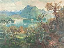 Giacomo Varese, Oil Painting, Lake Geneva, Italy, c.1860/1870