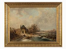 Charles van der Eycken (1809-1891), Wintery Pleasure on Ice
