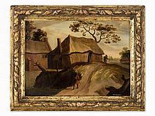 Dutch School, Village Road, Oil Painting, Pres. around 1800