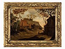 Dutch School, Village View, Oil Painting, Pres. around 1800