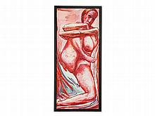 Hubertus Giebe, Oil Painting with Female Nude, 1999
