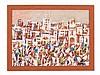 Mohamed Hamri (1932-2000), Oil Painting, Medina, around 1970