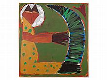 Menchu Lamas, Painting, Figure with Cornet, Spain, 1983