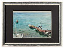 Valery Kosorukov, Wharf at the Black Sea, 1963