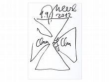 Jonathan Meese, Drawing 'Clan of Clan', 2012