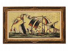 Jean Lurçat (1892-1966), Oil Painting, Voiles dans la Tempête