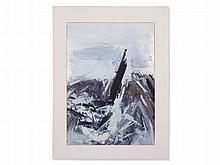 Peter Marquant, Oil Painting with Abstract Composition, c. 1985