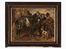 Wilhelm von Diez (1839-1907), Before the Hunt, Late 19th C.