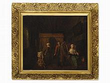 Jan J. Horemans (1714-1790), attr.,The Doctor Visit, 18th C.