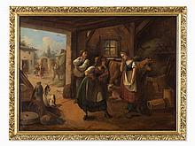 Genre Scene in the Style of the Dutch masters, 2nd H. 19th C.