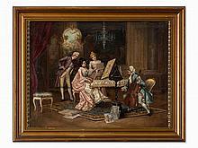 Chamber Music in the Salon, Neo-Rococo, Austria, 19th Century