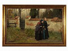 Wilhelm Görms (1864-c.1910), Two Ladies Taking a Walk, 1907