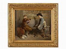 Roman Ribera Cirera (1849-1935), Card Players, Oil, circa 1890