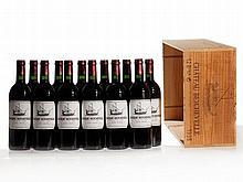 12 bottles 1995 Château Beychevelle in original wooden case