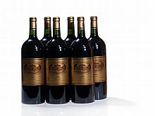 6 Magnum bottles 2005 Château Batailley, original wooden case