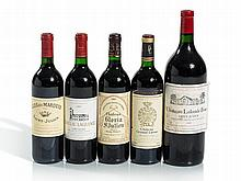 5 bottles of wine from different estates in Saint-Julien