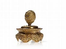 Fire-Gilt Incense Stick Holder with Repoussé, Qing, 18th C