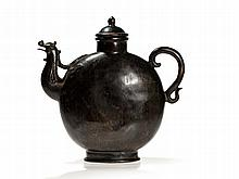 Massive Damascened Bronze Ewer with Phoenix Head, Qianlong