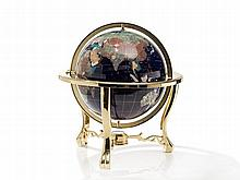Jere Wright Table Globe with Semi-precious Stones, late 20th C.