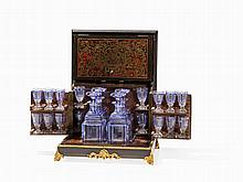 Liquor Chest 'Cave à Liqueur' with Boulle Marquetry, c. 1870